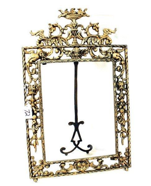 72: Iron decorative easel