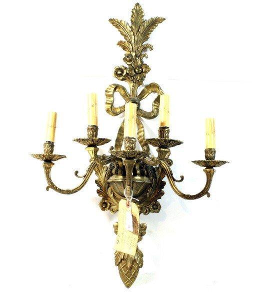 73A: Vintage Ornate Brass Candleabra