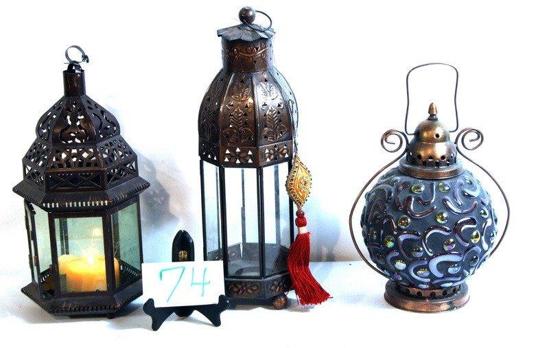 3 decorative contemporary lamps
