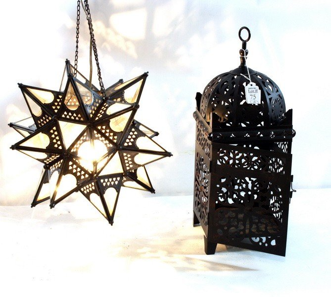 75: Pair of Contemporary Bird Cage Lamps