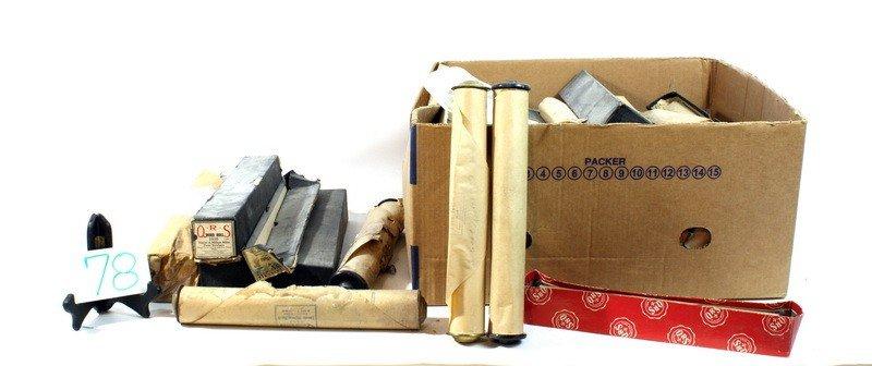 78: Box of piano rolls