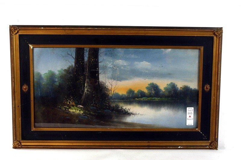 103A: Pastel landscape unsigned 23x11