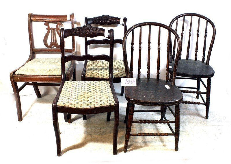 105A: 5pc Chair Lot