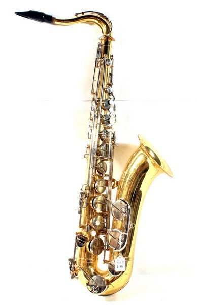 106: Vito Brass Tenor Saxophone with Mother of Pearl Ke