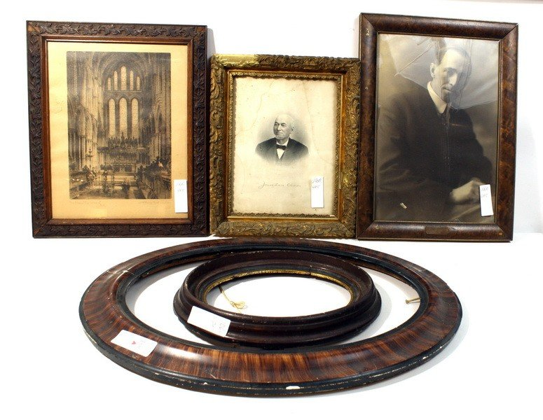 106A: Frame lot including photo of Odd Fellow from Houl