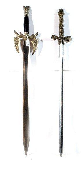 """114: 2  Ornate Swords 37""""""""L."""