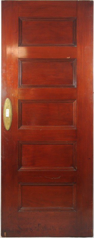 500: 5 Panel oak Door stained Cherry on one side 81Hx32