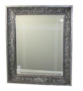 Silver In Color Decorative Framed Mirror 21x25