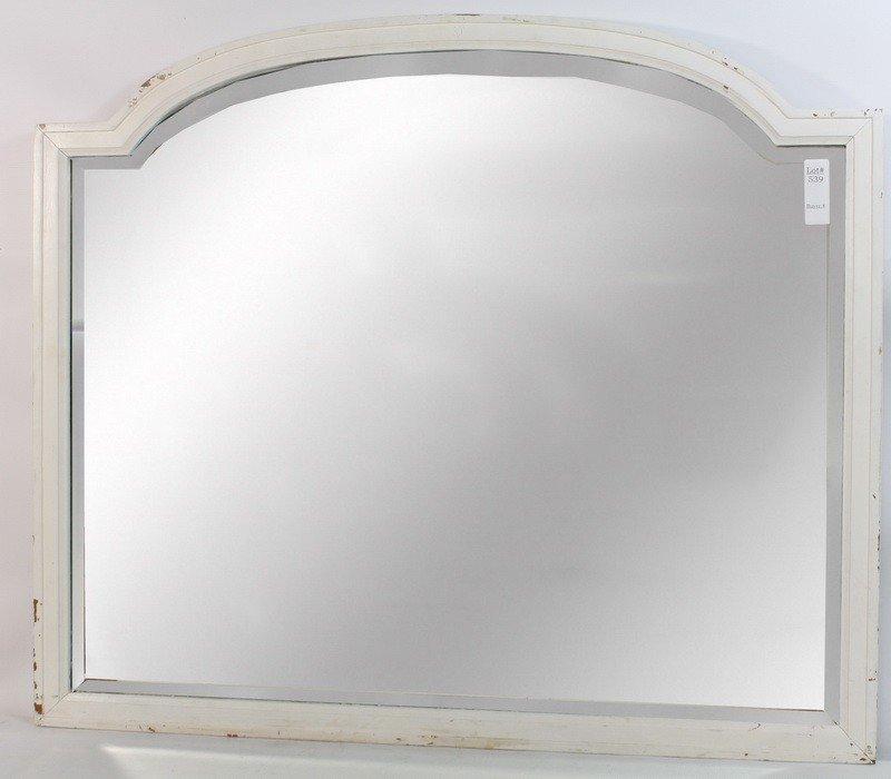 539: White framed hanging mirror 30x36