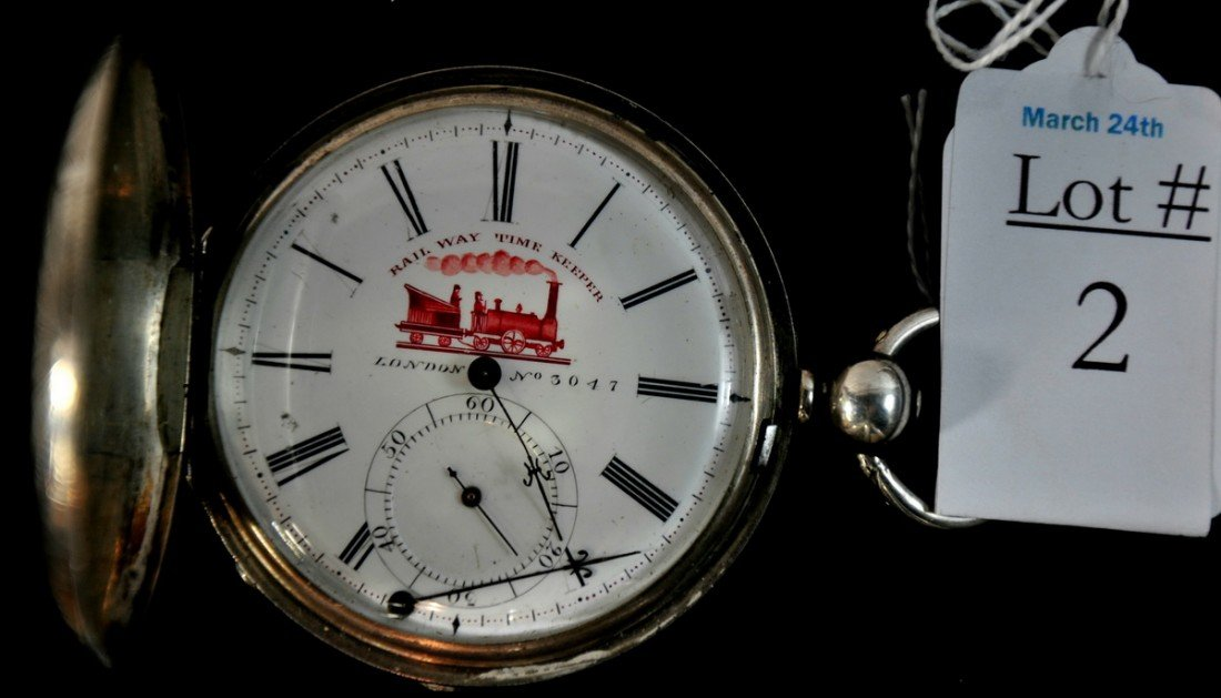 2: Keywound Pocket Watch Straight Lined Full Jewel by J