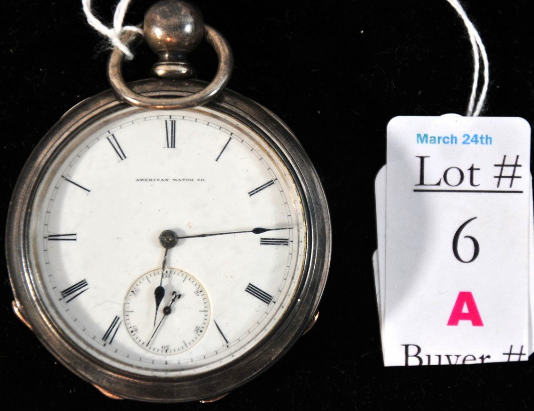 6A: American Waltham Watch Co. Pocket Watch Key Wind Cr