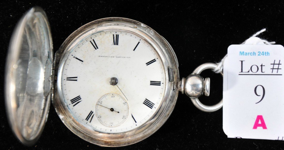 9A: Appleton Tracy Waltham, Mass. Pocket Watch No. 5464
