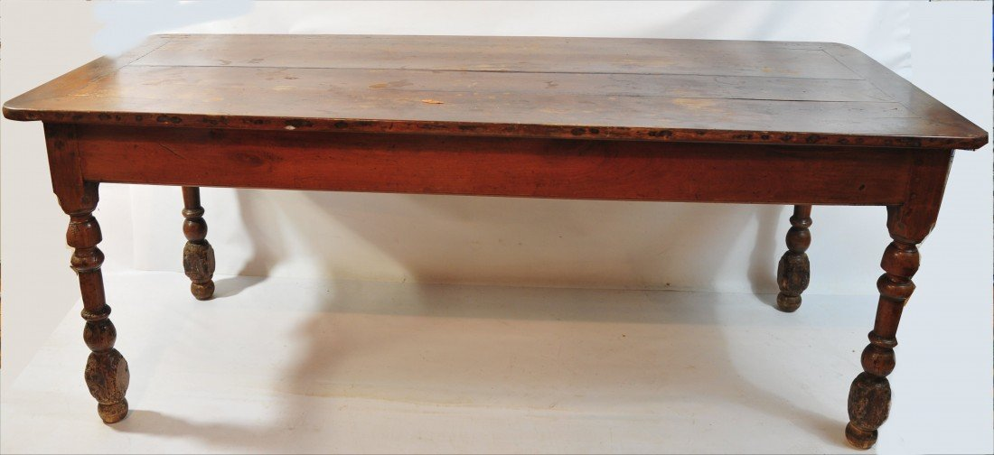 "14A: Nineteenth Century French Farm House Table 76"" Lon"