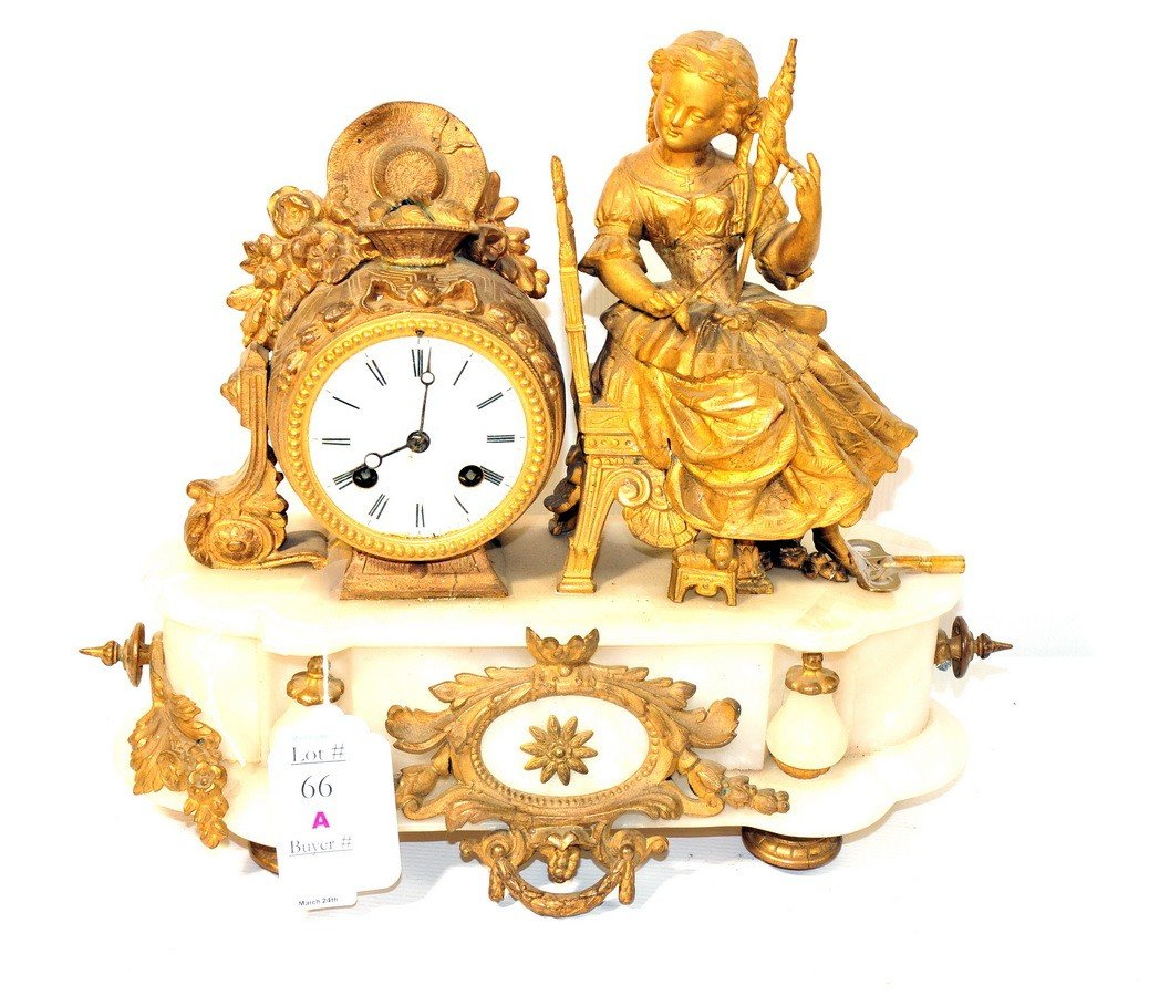 66A: French mantle clock