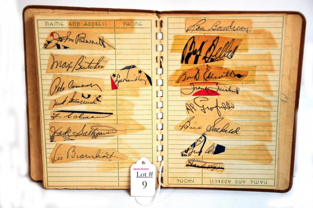 9: Estate autograph album filled with over 300 Period M