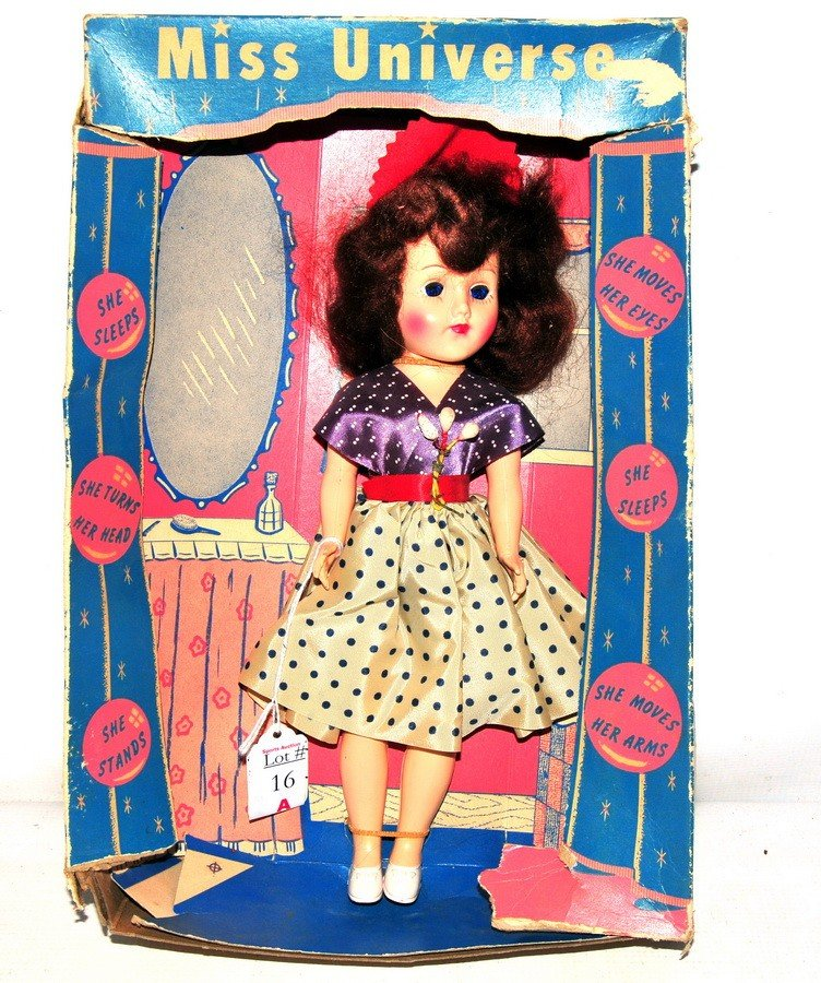 16A: Miss Universe Doll in original box doll made of ha
