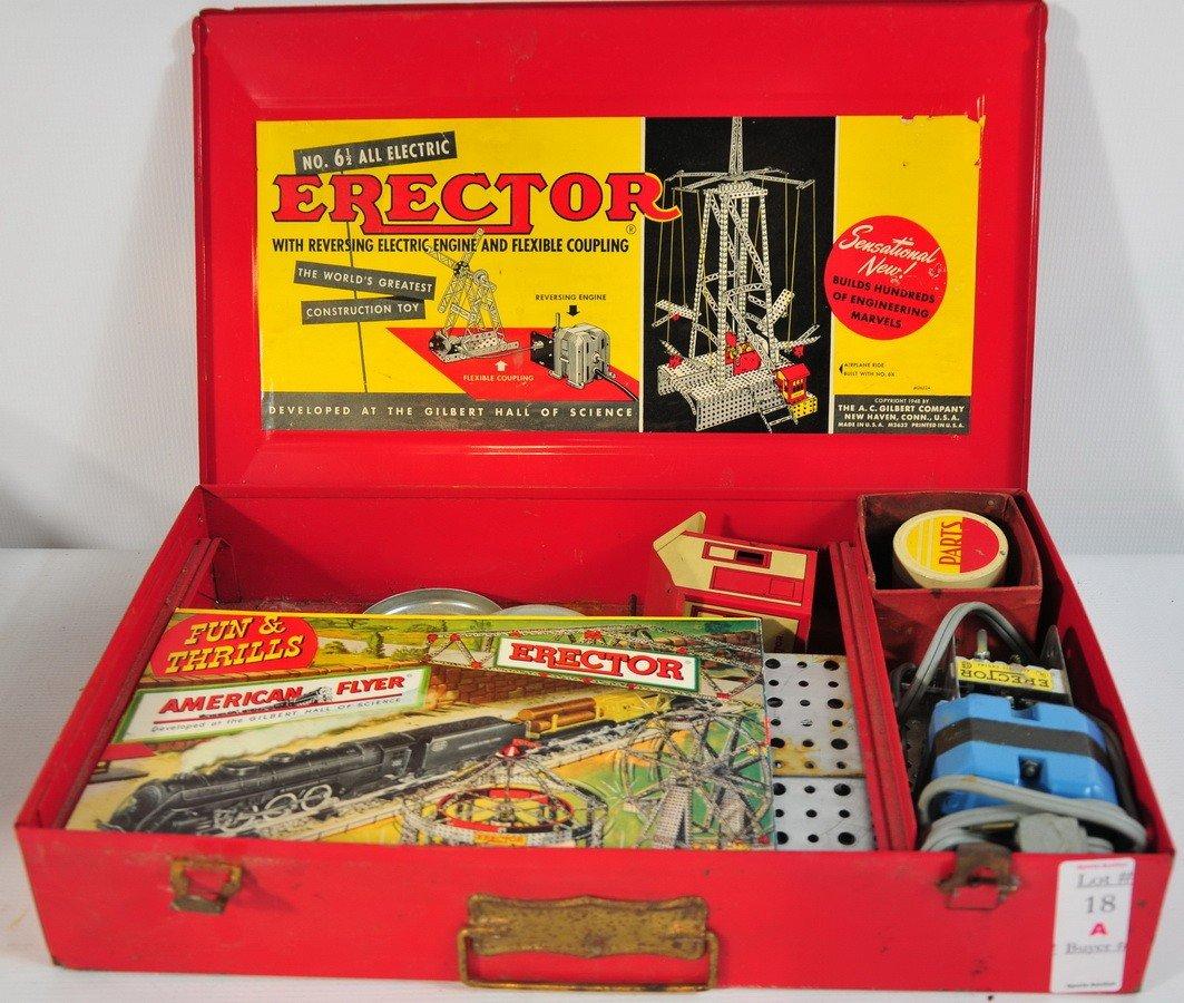 18A: Erector Set #6 1/2 all electric original box with