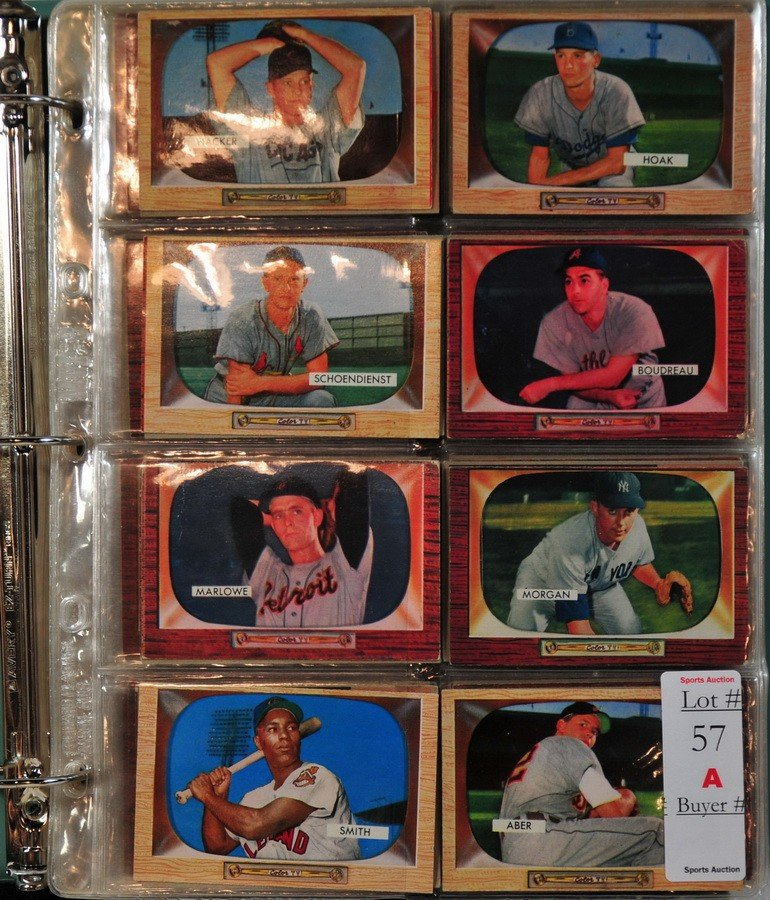57A: ALbum of 300 1955 Bowman Baseball Cards