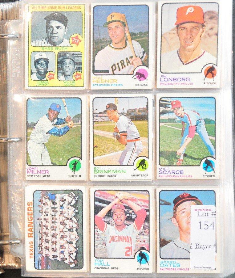 154: Album of 660 1973 Topps baseball cards
