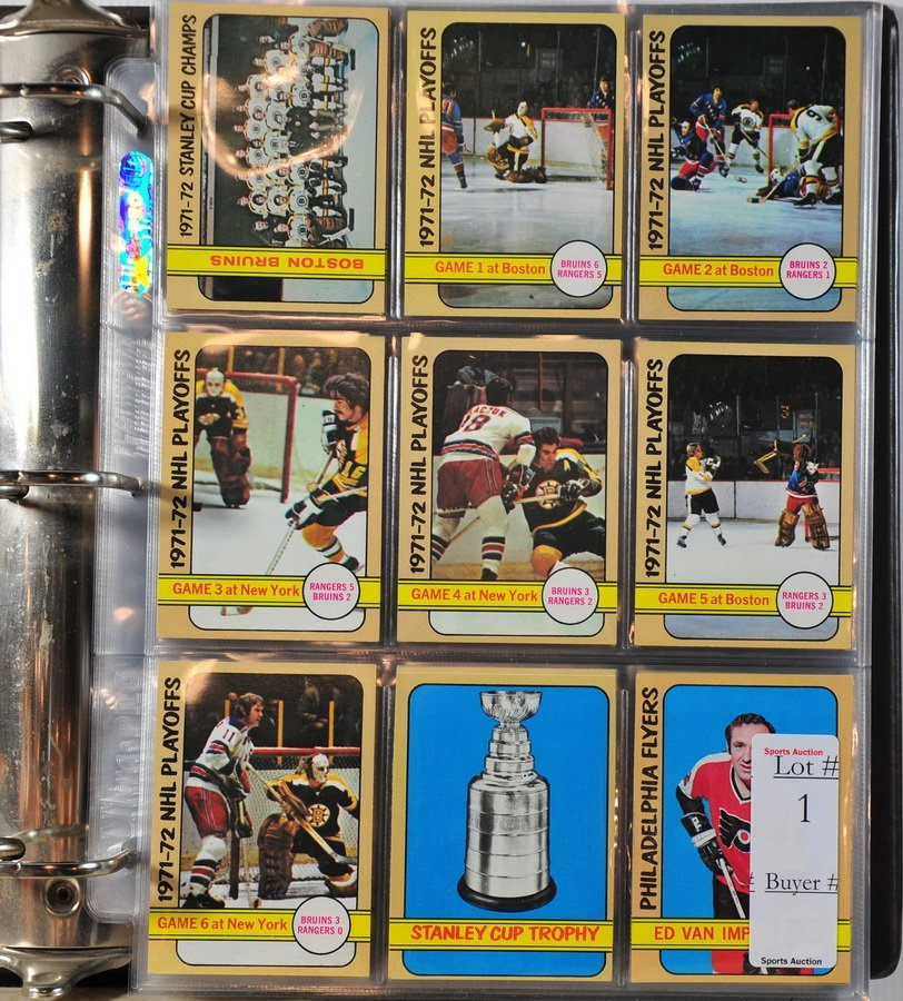 1: Complete 1972-73 Topps Hockey Set in Near Mint Condi