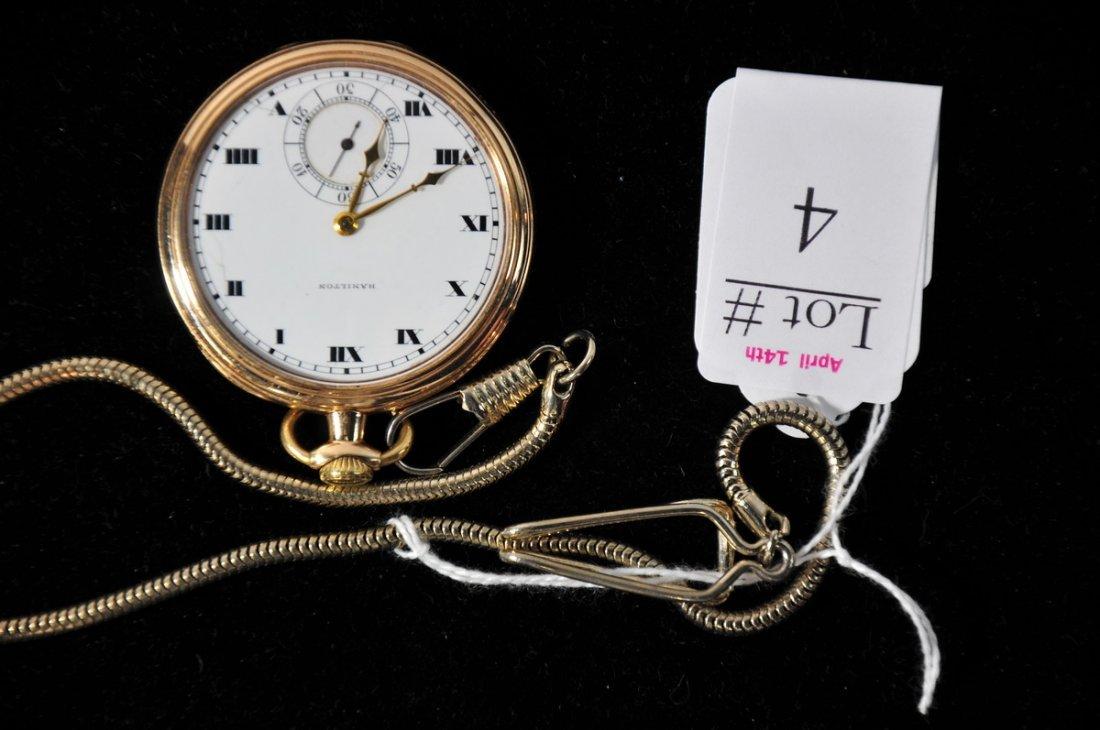 4: Fine Hamilton Model 914 17 Jewel Pocket watch in Run