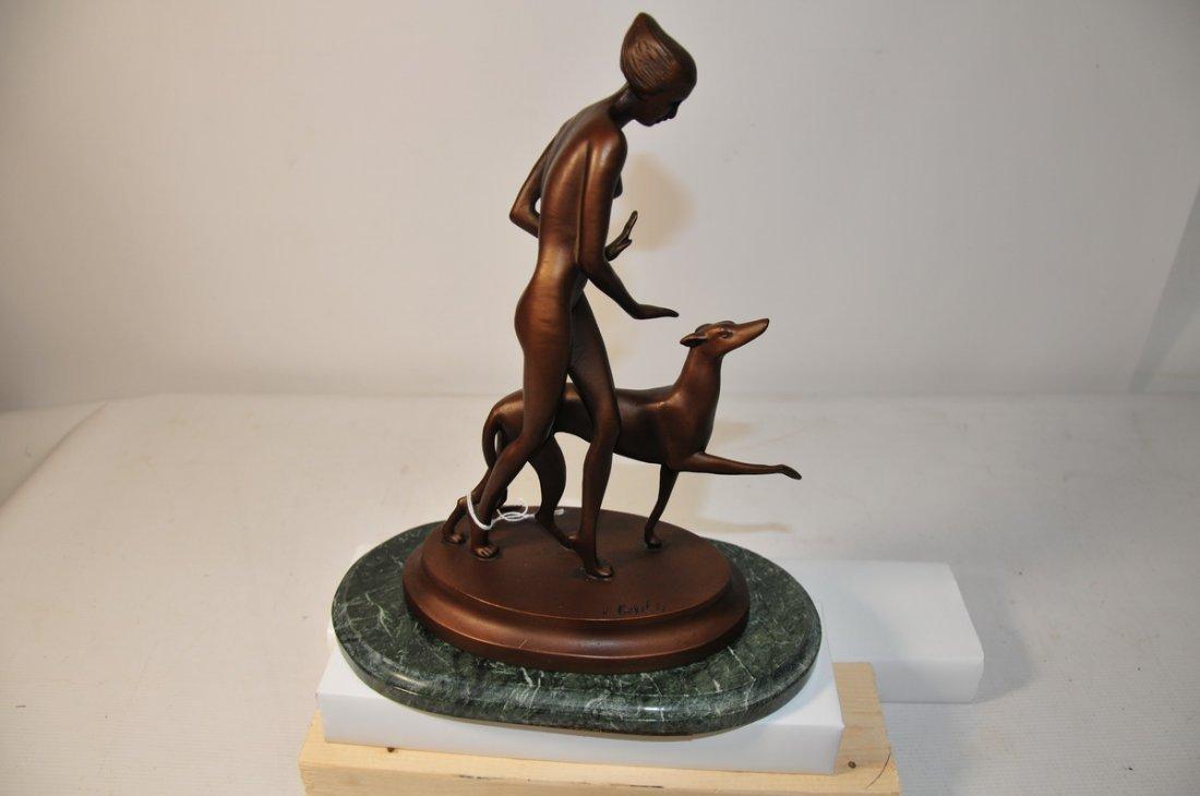 11: Bronze art deco statue 1910-1935 signed Ignacio Gal
