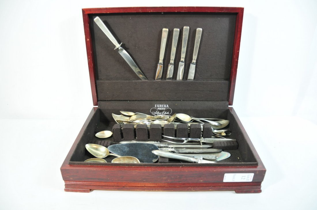 12: Sterling flatware including Knives Forks and Spoons