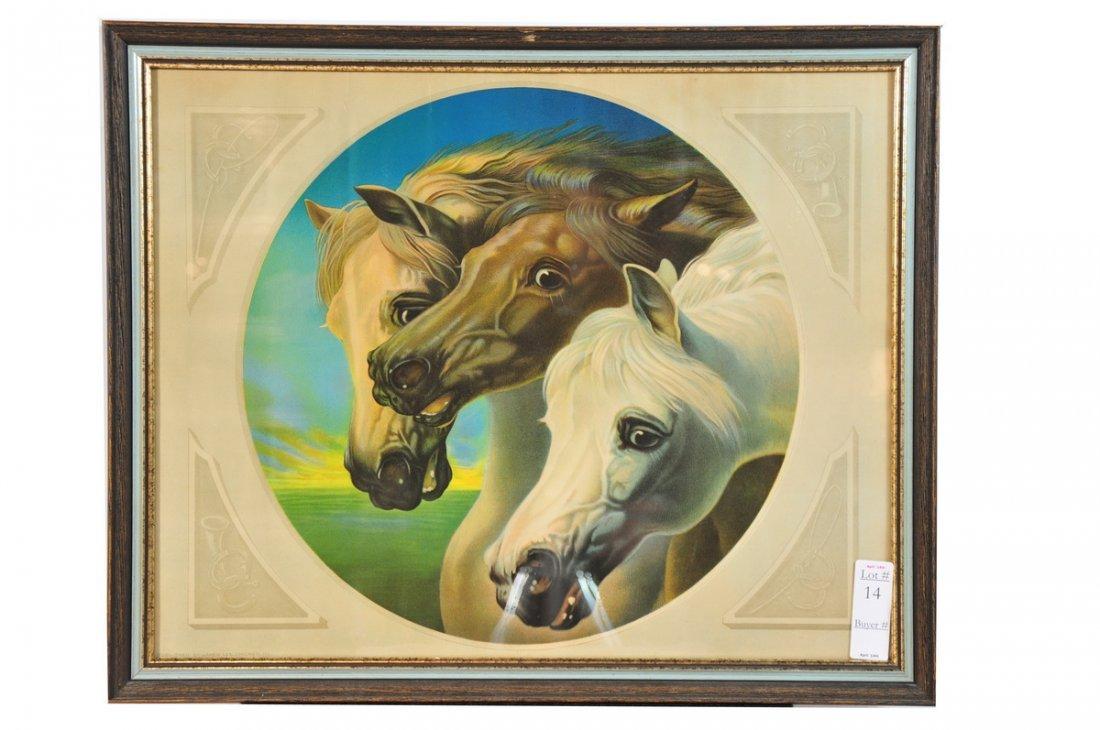 "14: 18x24 Horse Print ""Pharaoah's Horses"""