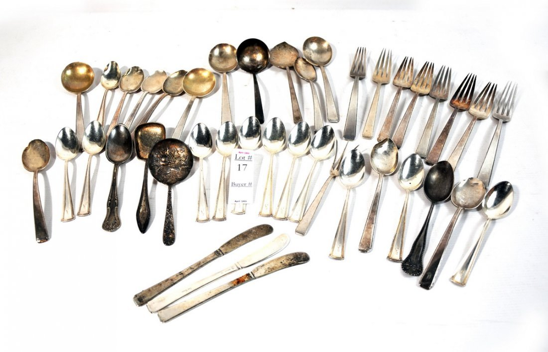 17: Collection of Sterling Spoons and Forks 36.6 troy o