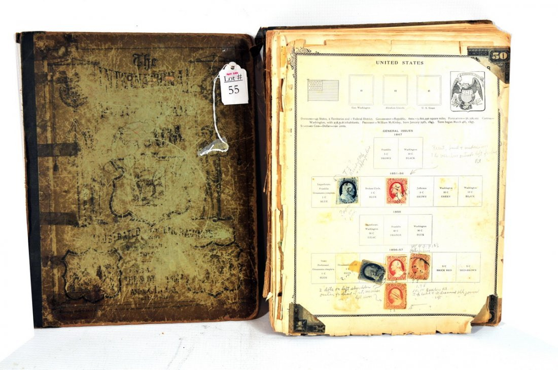 55: Loaded Stamp Album to Include Stamps from Many Coun