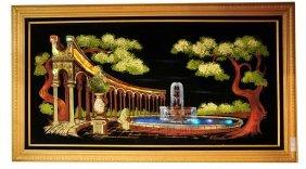 "Light Up Ashrook Painting Of Fountain Scene 55"" X 3"