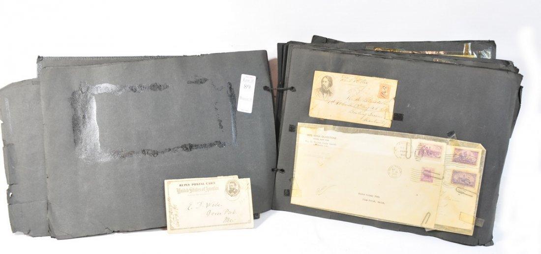 89: Old Album Full of Stamp Envelopes