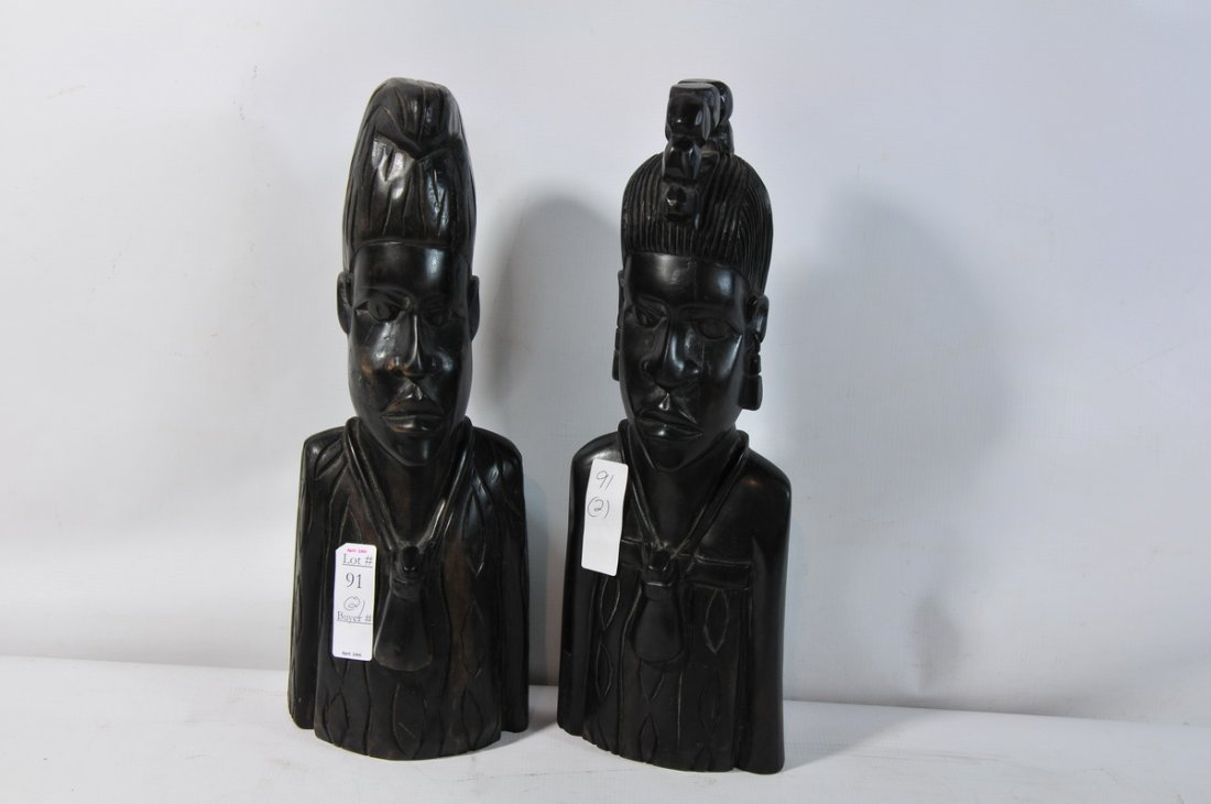 """91: Pair of African statues 16"""""""