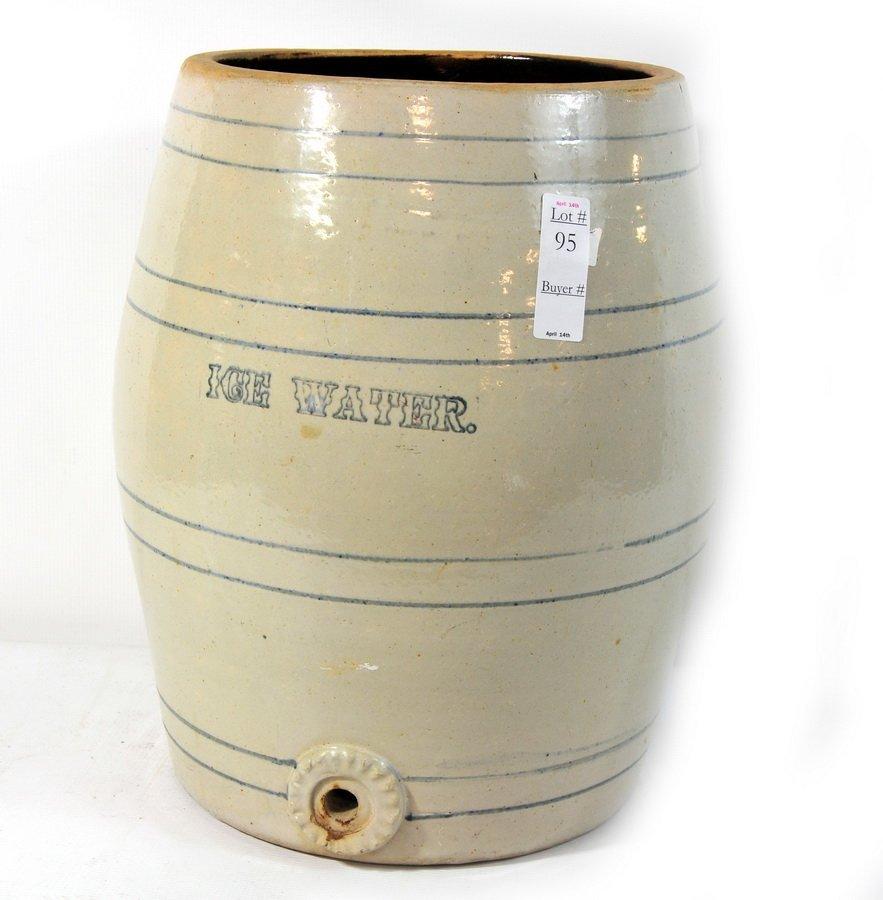 95: Stoneware ice water cooler