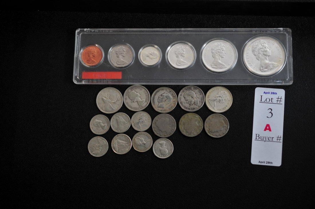 3A: 3 Liberty head V nickels 1904, 1909, 1912.  1967 Ca