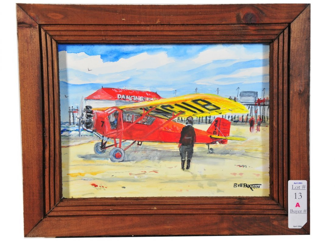 13A: Bill Paxton Colorful Old Orchard Beach with Airpla