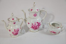 """3 Pc. Lot Of Bavarian China Schuman To Include 8"""" T"""