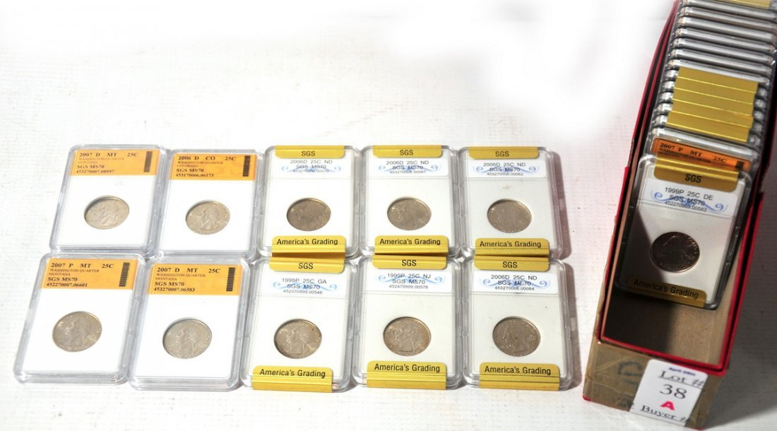 38A: 25 State slab quarters 2007, 2008, etc