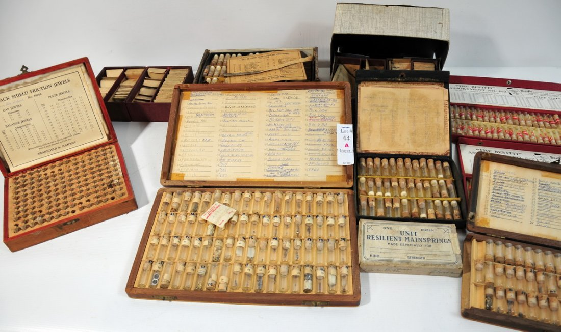 44A: Lot of watch makers material pieces