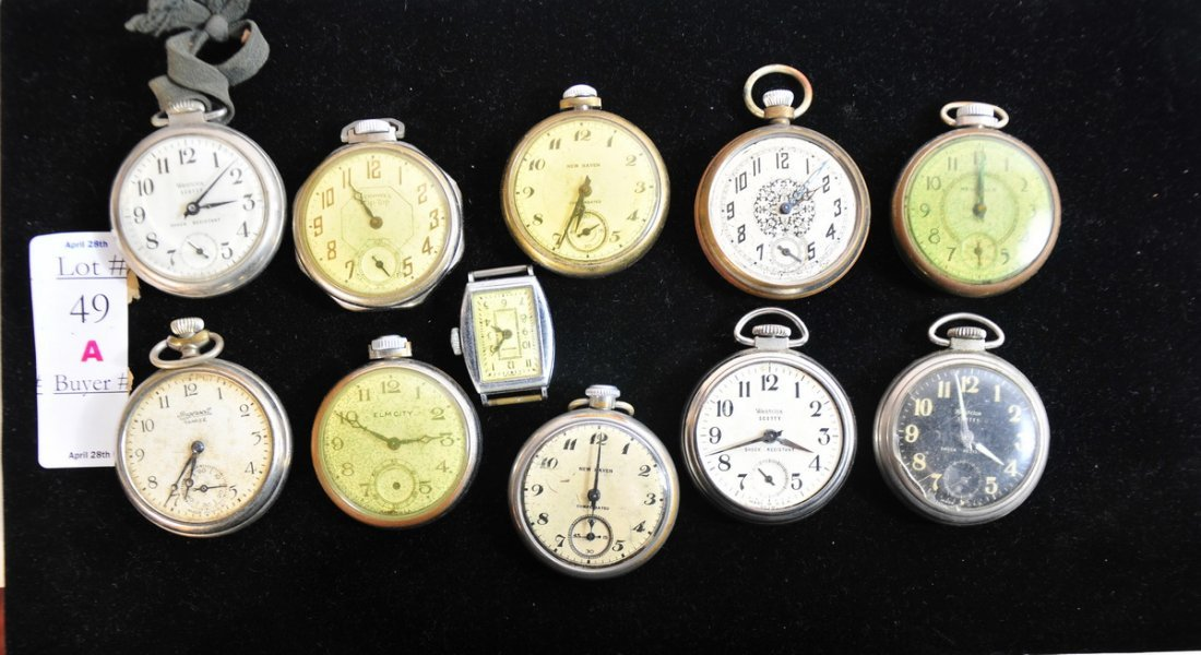 49A: Lot of 11 Dollar watches
