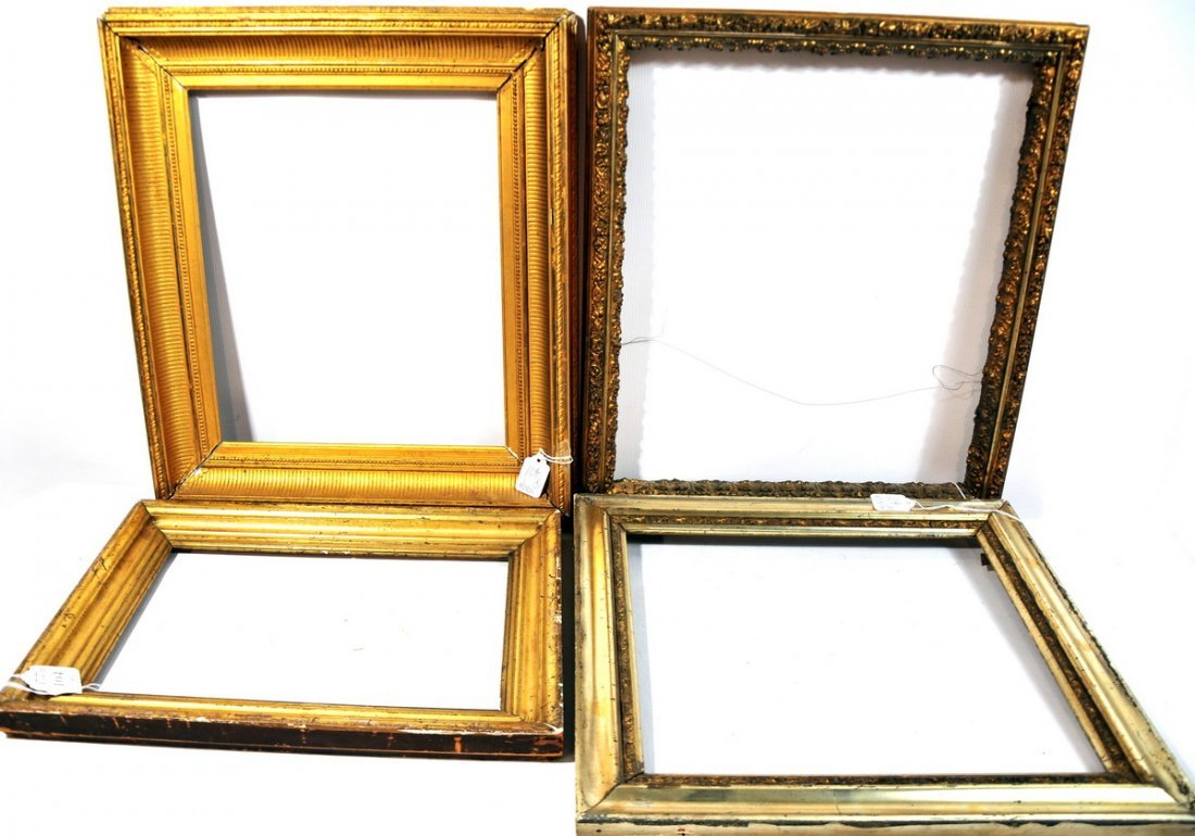 104: Four frames gold in color