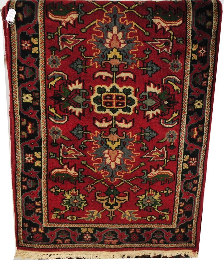 "105A: Oriental Red runner 14' Length x 29 1/2"" Wide"