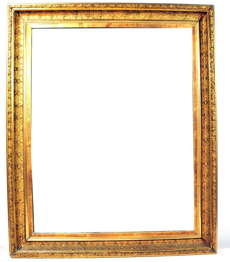 "107: beautiful mirror 27x33"" in deep gold frame"