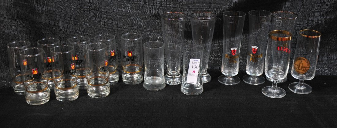 130A: Lot of German Beer glasses and stemware
