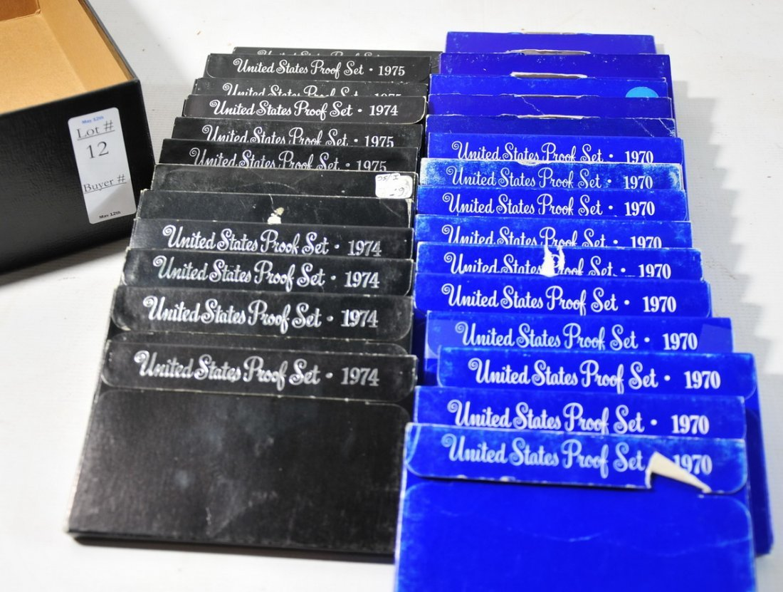 12: Collection of US Proof Sets, 2 1976, 5 1975, 4 1974