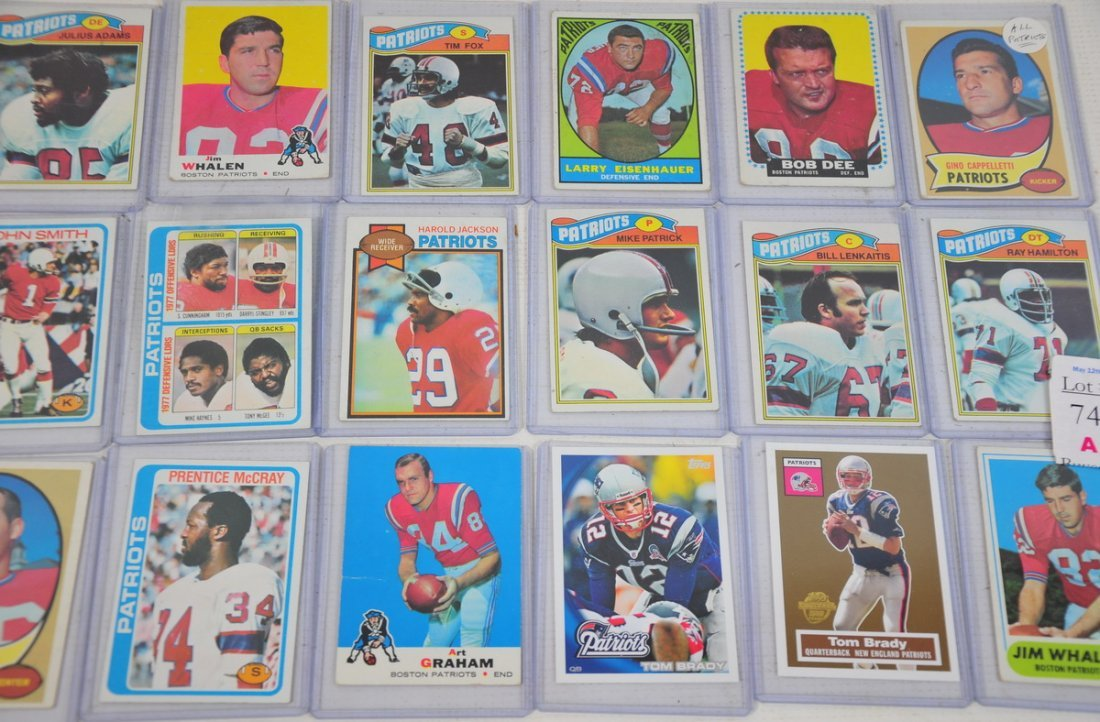 74A: Collection of 18 New England Patriots Football car