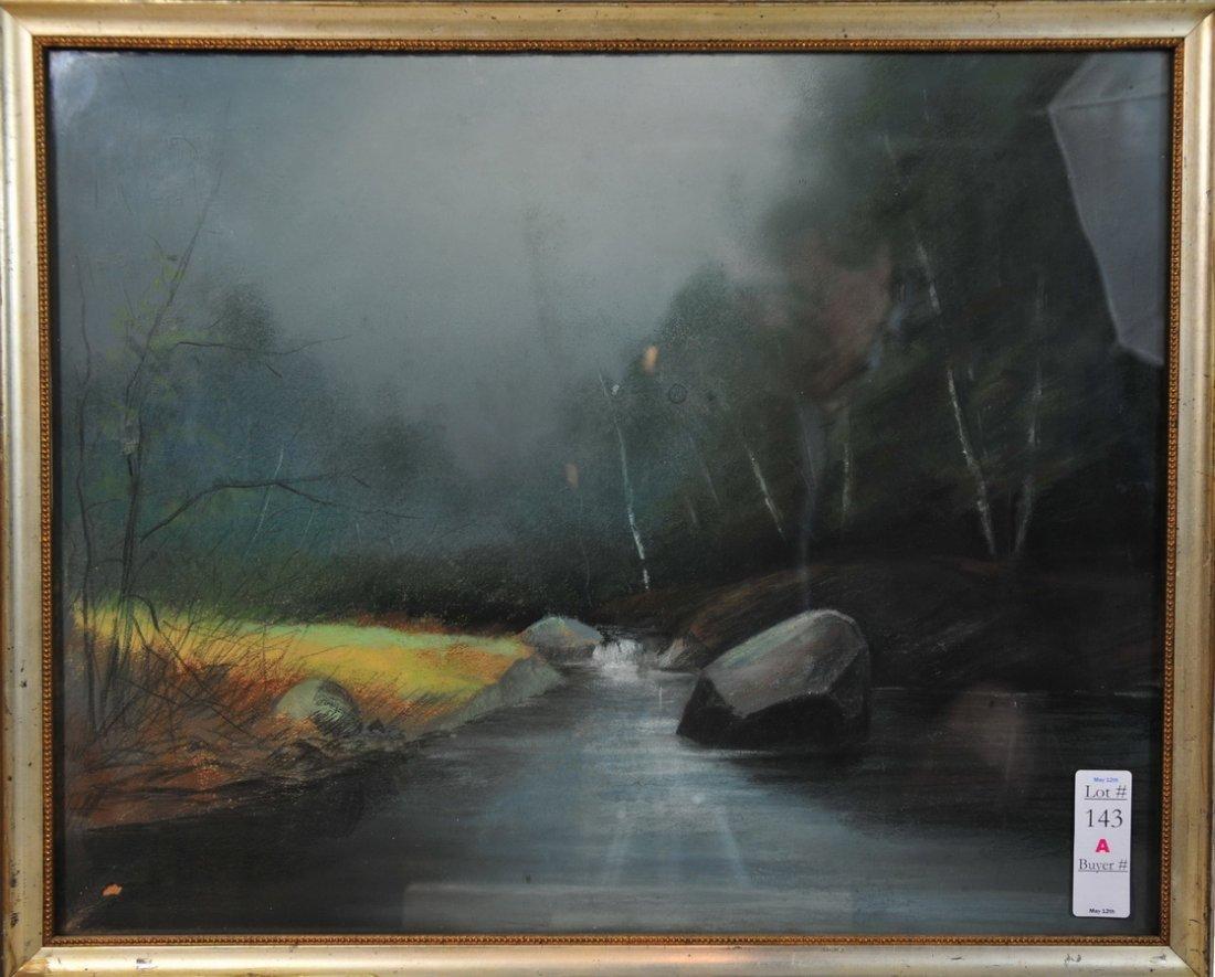 143A: Pastel Landscape on canvas 19x15 unsigned