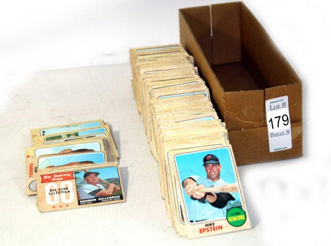 179: Box of 1968 Topps baseball cards