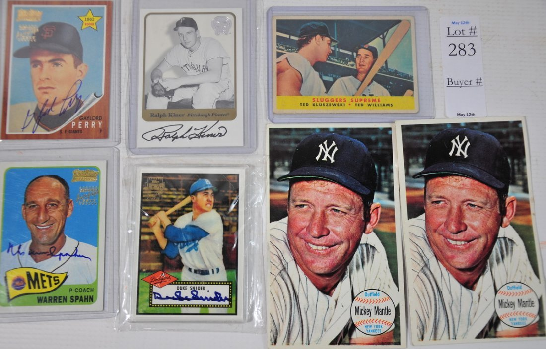 283: Sports card group with Topps Legends, Sluggers Sup - 2
