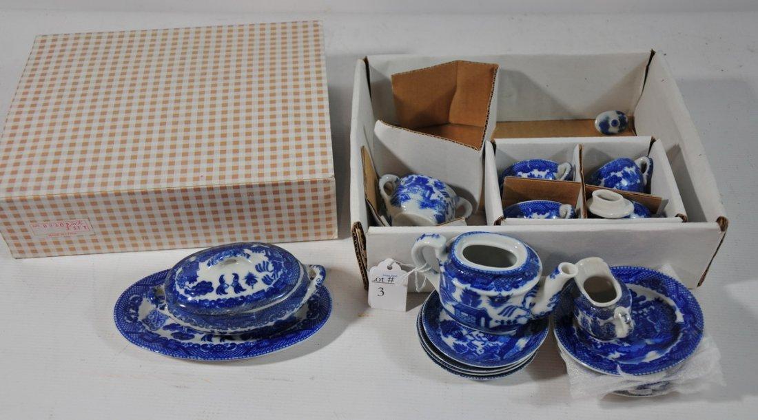 3: Blue Willow doll's tea set